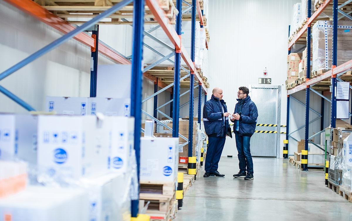 Das Warenlager als wichtiger Bestandteil der Waldeck Kontraktlogistik.
